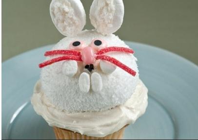 Snow Bunny Cupcake